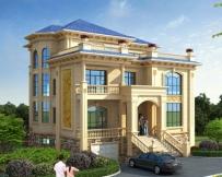 永云别墅AT1726三层带架空层车库豪华别墅设计施工图纸14.5mx14.6m