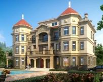 AT1768四层高端大气复式楼中楼大型别墅建筑设计全套施工图纸26.4mX15.5m
