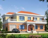 AT1861简单大方二层带车库兄弟共住别墅设计全套施工图纸18.2mX11.8m