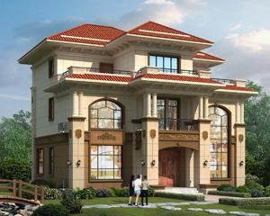 2019新款AT1876占地156平米三层复式别墅设计施工图纸13.6mX13m