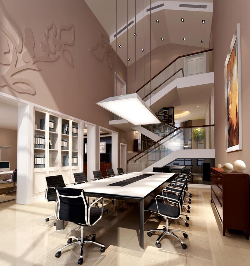 怀化两层别墅楼中楼复式客厅装修效果图