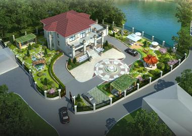 衡阳唐先生1500平米别墅园林景观设计案例欣赏