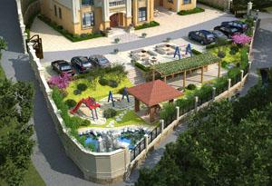 衡南县吴总私家别墅带园林景观360度全景图设计案例