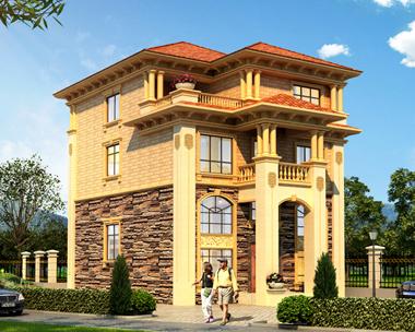AS036江山市刘先生私人定制设计欧式别墅外观效果图
