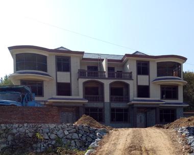 叶女士现代中式三层双拼别墅施工案例图欣赏