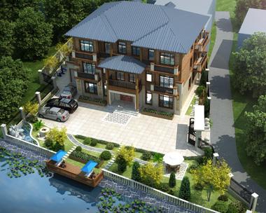 永州祁阳罗总别墅园林景观设计案例图展示