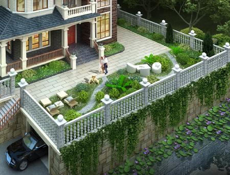 四川文先生三层私家别墅带庭院景观设计效果欣赏