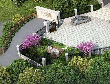 岳阳市平江县王先生私人别墅带园林景观设计案例