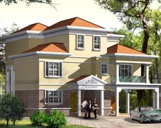 AT06三层现代双车复式客厅别墅建筑施工设计图纸15m×16m