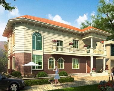 永云别墅AT1692二层新农村现代简洁别墅施工图纸18mx10m