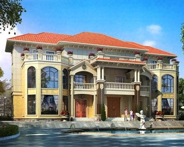 永云别墅AT1693三层豪华带阁楼张家界双拼别墅设计图纸27.4mx18.8m