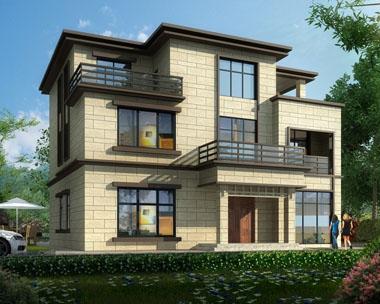 【带装修图纸】AT1742长沙宁乡三层复式客厅别墅设计图片13.8mx12.2m