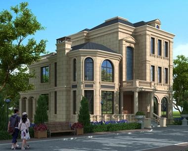 AT1772法式风格三层最最好看大气复式楼中楼别墅全套建筑施工图片12.4mX15.5m