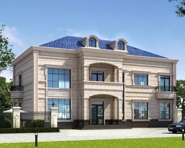 占地230平米AT1773二层大气私人法式风格别墅设计图片18.2mX11.2m