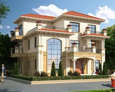 AT1797私人豪华三层复式楼中楼别墅建筑设计全套图纸14.8mX12.1m