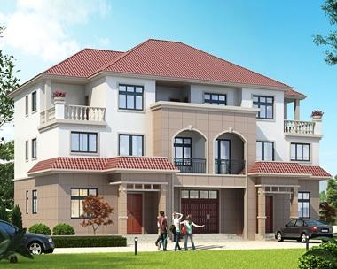 2019新款AT1826三层联排兄弟合建别墅设计施工图片20mX12.5m