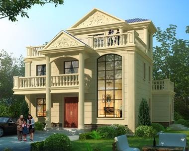 2019新款AT1836三层豪华大气欧式别墅复式楼设计图纸12.6mX11m