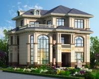2019新款AT1856带庭院欧式三层复式漂亮别墅设计图片12.6mX10m