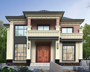 AT1918现代乡村二层新中式风格漂亮别墅设计全套施工图纸13.8mX11.9m